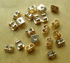 FREE P&P 1st CLASS 20 (10 pairs) GOLD BUTTERFLY EARRING BACK STOPPER EAR NUTS