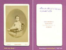 CDV CHAMBAY à PARIS : MARCEL, 22 MOIS, GARÇON EN POSE SUR UN FAUTEUIL, 1880 -N8