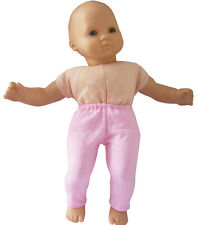 """Light Pink Leggings for Bitty Baby 15"""" Doll Clothes Handmade Exclusive"""