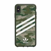 Adidas Genuine Original 3 Strips Green Camouflage Hard Case fr iPhone X XS MAX S