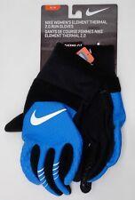 Nike Women's Therma Fit 2.0 Run Gloves Black/University Blue Medium BRAND NEW