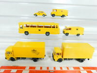 BX389-0,5# 6x Wiking 1:87/H0 Post-Modell: Bus MB + VW Käfer + LKW MAN etc, TOP