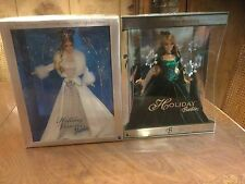 2003 & 2004 Special Edition Holiday Barbies Visions- Lot of 2 Extra Nice