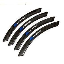 4Pcs Mopar Carbon Fiber Fender Arch Trim Stickers Car Wheel Eyebrow Strips