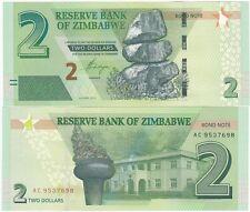 Zimbabwe - 2 Dollars 2016 2017 UNC Lemberg-Zp
