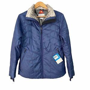 Columbia Blue Kaleidoscope Omni-Heat Full-Zip Athletic Puffer Winter Jacket L