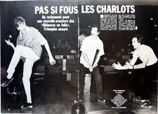 LES CHARLOTS => Coupure de presse 4  pages 1983 !!!