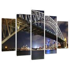 Cinque FOTO TELA BLU ART Wall Art Sydney Harbour Australia 5041