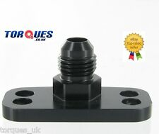 AN -6  Fuel Rail Adapter HONDA B16A B16B Integra Civic EK4 EG6 EK9 CRX in BLACK