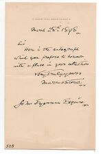 1898 Autographed Letter from English Painter Marcus Stone 1840-1921