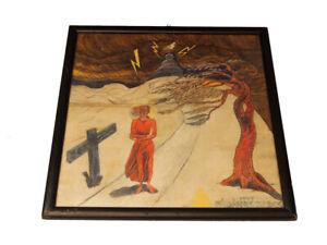 Symbolistisches Gemälde; Aquarell; Hildigora Zarck, 1947
