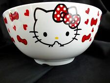 JAPANESE XL HELLO KITTY WHITE MELAMINE 480ml SOUP NOODLE SALAD BOWL DINNER PARTY