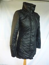 FAB BENCH BLACK FITTED ZIP COAT LIGHTLY PADDING HIDDEN HOOD BENCH LOGO SIZE 8