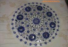 "30"" White Marble Dining Coffee Corner Bigside Table Top Inlay Creative Stone"
