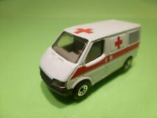 MATCHBOX FORD TRANSIT - AMBULANCE - WHITE 1:7 - GOOD CONDITION