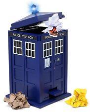 Doctor Who Tardis Waste Basket Flip top Trash Can Bin Light Sound Effects Dr New