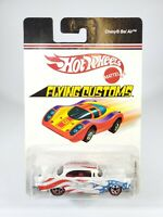 Hot Wheels Flying Customs Series Chevy Bel Air Red White Blue Flames w/ Protecto