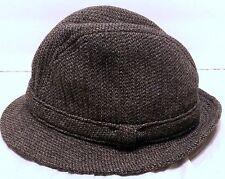 Vintage Pendleton Fedora Gray Wool Hat w/Band Size Medium Tweed Older Hipster