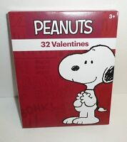 Peanuts Gang 32 Children's Valentines - Valentine's Day Cards Snoopy Lucy 2017