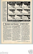 1962 PAPER AD Armi Galesi Hand Guns Pistols Chrome Engraved Handle .32 Caliber