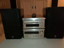 Kompaktanlage Yamaha Pianocraft Receiver, CD-Spieler und 2x Boxen, kompl.