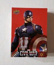 2016 Captain America Civil War Rare Walmart Retail Exclusive 50 Card Red Set