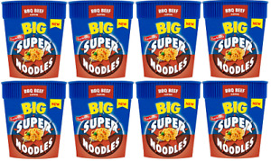 Batchelors Big Super Noodles BBQ Beef Snack On The Go 8x100g Best Befor 16.06.21