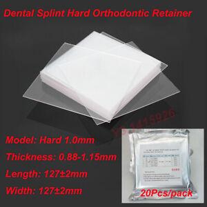 20Pcs Dental Splint Hard 1.0mm Orthodontic Retainer Vacuum Thermoforming Sheet