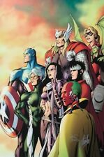 ALAN DAVIS rare AVENGERS C2E2 giclee CANVAS signed 2X STAN LEE #6/99 COA Comic Art