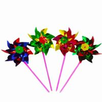 10Pcs Plastic Windmill Pinwheel Wind Spinner Kids Toy Party Lawn Garden Decor