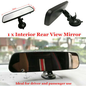 1X 360°Car Truck Wide Flat Interior Rear View Rearview Mirror Strong Suction Cup
