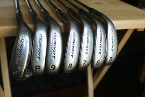 Adams Tight Lies iron set 5-SW Uniflex steel shafts Midsize grips RH