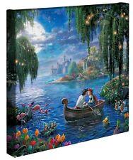 "Thomas Kinkade Gallery Wrap The Little Mermaid Ii 14""x14"" Wrapped Canvas Mickey"