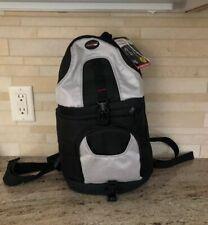 Precision Design Digital SLR Camera Backpack Case Sling Strap Black Silver