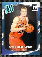 LAURI MARKKANEN - 2018 Panini Rated Rookie RC Chicago Bulls #159