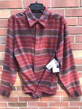 Marmot Enfield Flannel LS Shirt Marsala Brown  XL #53660 UPF/UV 50 Cool Max NWT