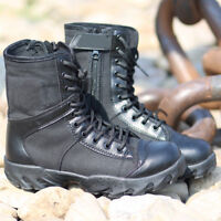 Men Canvas Shoes Military Tactical Army Battle Combat Boots Black Army SZ 4.5-9