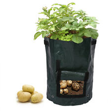 Potato Grow Planter PE Container Bag Pouch Root Plant Growing Pot Side Window JS