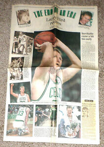 LARRY BIRD Boston Globe Newspaper RETIREMENT Special Section 08/19/92 End of Era