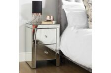 Clean Contemporary and Chic 2 Drawer Bedside Table With Beautiful Bevelled Edges