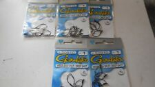 5 packs gamakatsu weedless split / drop shot hook size 1 50910 5 per pack