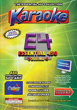 Chartbuster Essential 450  Vol. E4-450 MP3G SD Card KARAOKE CDG MUSIC 4 PLAYER