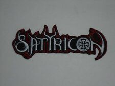 SATYRICON BLACK METAL IRON ON EMBROIDERED PATCH