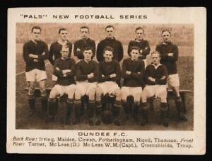 Pals Magazine - 'New Football Series' (1922) - Card #10 - Dundee F.C.