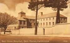 Red Cross Hospital, San Mateo, California ca 1910s Vintage Postcard