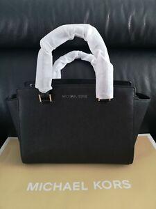 Women's Michael Kors Selma Bag Leather Brand New Colour Black