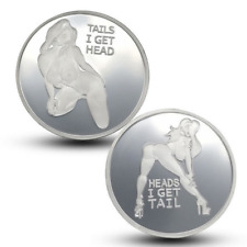 New Heads I get Tail Tails I get Head Adult Silver Plate Sexy Coins Lucky Gifts