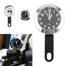 43mm Wasserdichte Motorrad Lenkerhalterung Leuchtende Uhr Zeit Uhr Universal