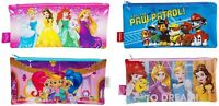 Kids School Large Flat PVC Pencil Case - Disney Princess/Paw Patrol/Shimmer