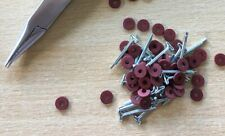 6mm Teddy Bear Cotter Pin Joints x 50 fibre board disks & 25 pins (for 5 bears)